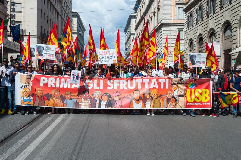 """Roma 16/6/2018  """" Prima gli sfruttati"""""""