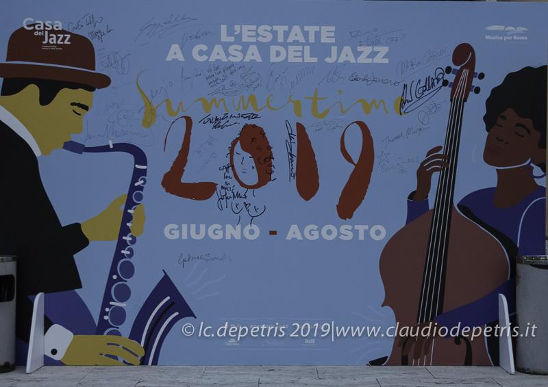 Banner pubblicitario Summertime 2019 Casa del Jazz